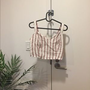 Forever 21 Tops - f21 striped crop top size medium